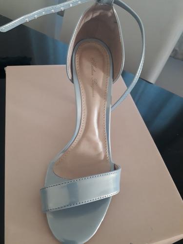 sandalia azul furta cor matheus bonjiorno