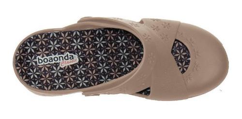 sandália babuche feminina palmilha conforto garden  boa ond