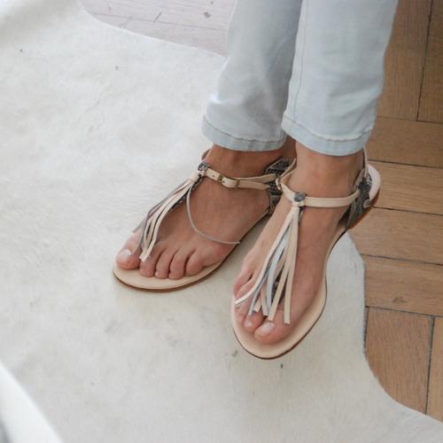 sandalia baja verano