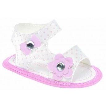 sandália bebê rosa pimpolho lacinho
