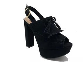 20607812d2 Sandalia Salto Grosso Marrom Bebece - Sapatos no Mercado Livre Brasil