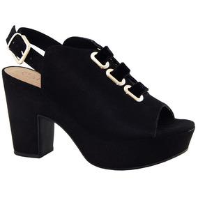 32cf9a5245 Sapatos Bebece Salto Grosso - Sapatos Preto no Mercado Livre Brasil