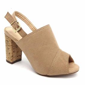 7ddf3ae4b5 Sandalia Salto Rolha - Sapatos no Mercado Livre Brasil
