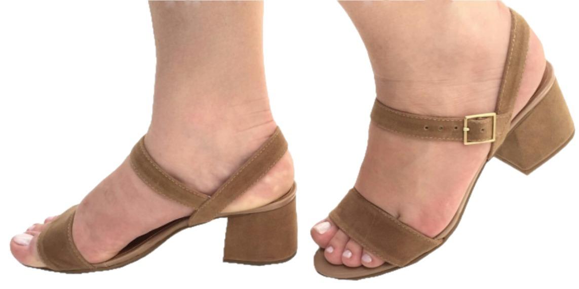 1babfb90f1 sandália bege nude salto grosso baixo caramelo. Carregando zoom.
