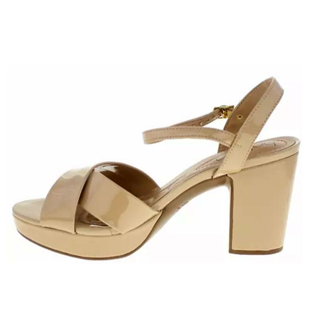 e329cf401a sandália beira rio meia pata salto médio verniz bege 009212. Carregando  zoom.