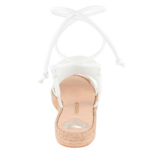 sandalia blanca lazada en tobillo 10719