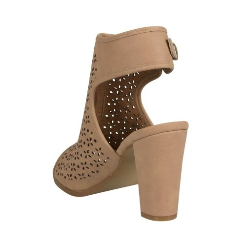 Sandalia Botin Abierta Yaeli Fashion Beige Sintetico Sn15 A ... 65b2b10dcdb1