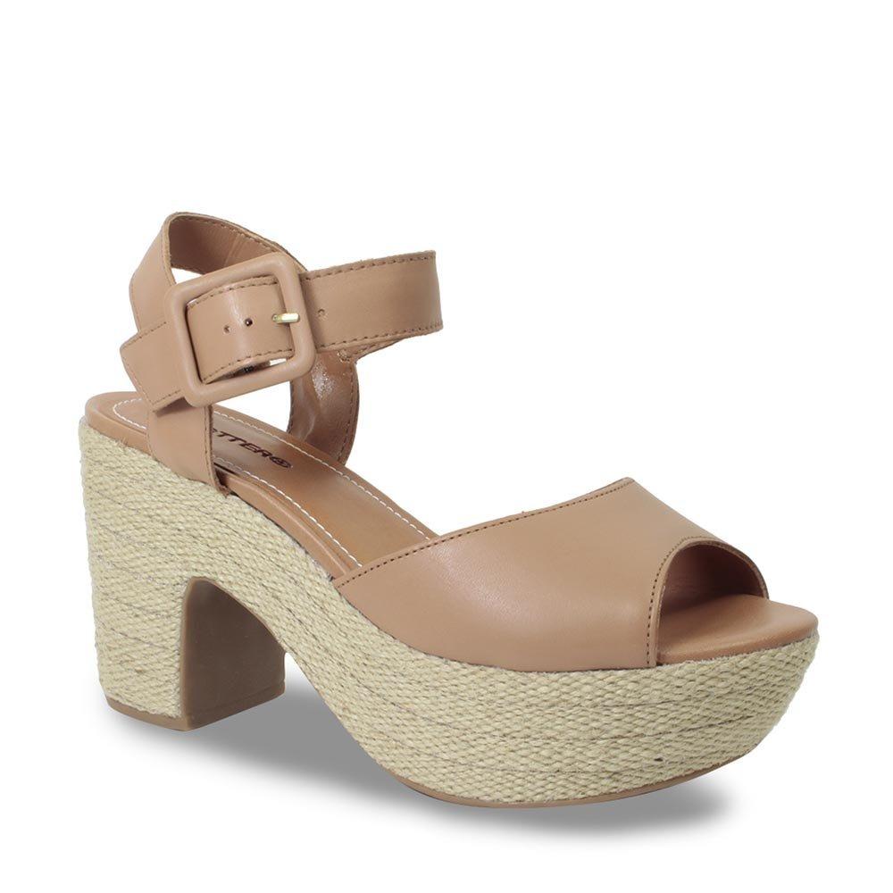 1c324241a1 sandália bottero meia pata feminina em couro camel 298921. Carregando zoom.