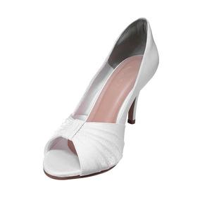 0f1309bb7 Peep Toe Noiva Branco Salto Baixo - Sapatos no Mercado Livre Brasil