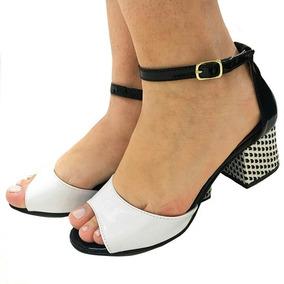 00dec52d0e Sandalias De Salto Grosso Baixa Branca - Calçados