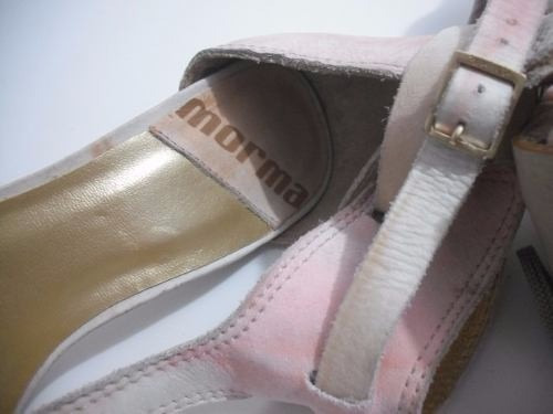 sandalia branca e rosa mormai tam 34 sem uso