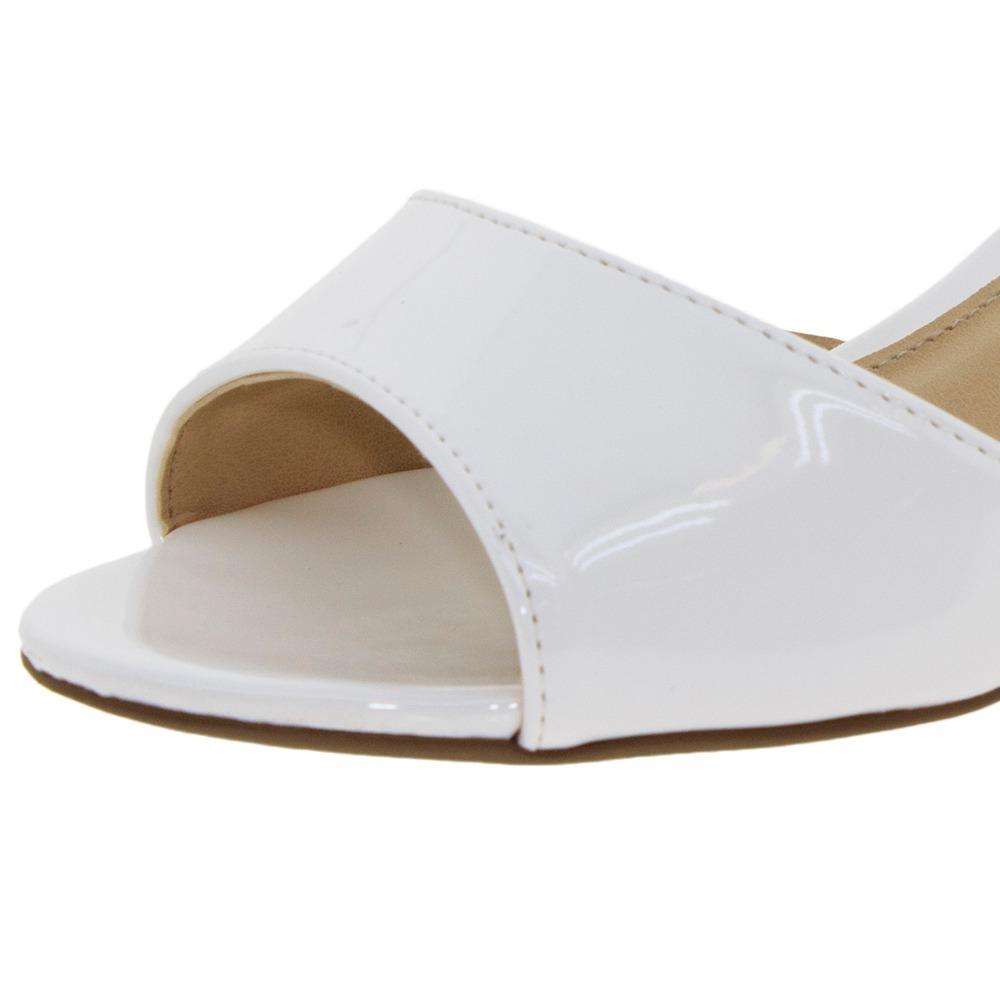 00f0281eb9 sandalia branca salto baixo grosso noiva daminha batizado. Carregando zoom.