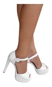 a9df900e7 Sapato Meia Pata Branco Noiva Feminino - Sapatos com o Melhores Preços no  Mercado Livre Brasil