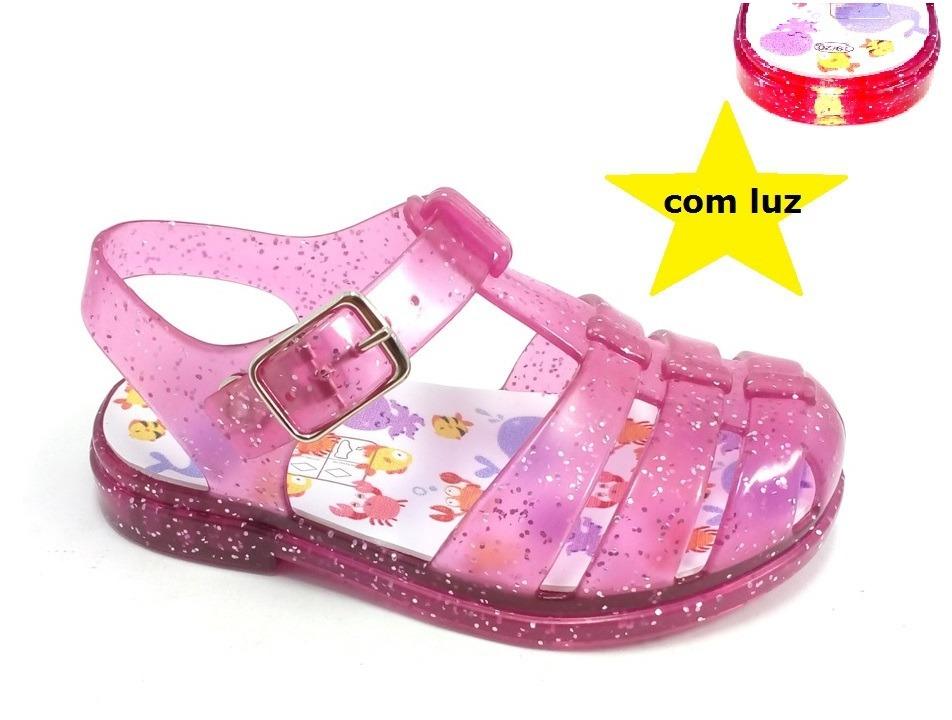 eac13c46d sandália calçado infantil menina bebe luz atacado 12 pares. Carregando zoom.