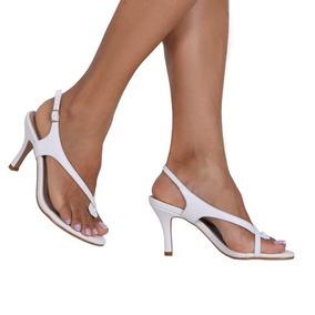 9e806df6d2 Sandália Casamento Noivas Couro Salto 8cm Up Shoes Ref  135