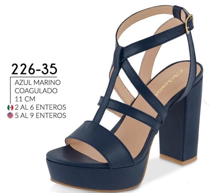 da2381ffb37 Sandalia Casual Azul Marino 226-35 Cklass Para Dama 1-19 -   781.00 ...
