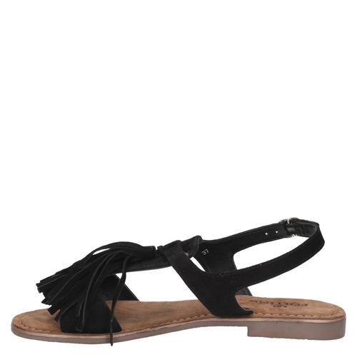 sandalia casual pollini mujer negro - s118
