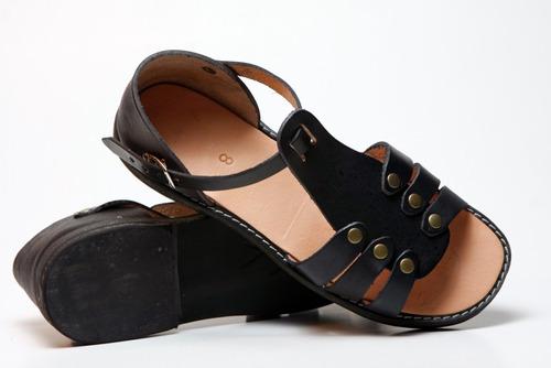 sandalia chala artesanal en cuero hecho a mano mgchile