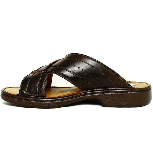 sandália chinelo antistress couro ideal para diabéticos