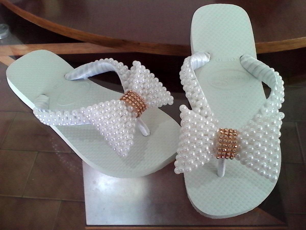 Sandalia chinelo havaianas bordadas decoradas r 115 00 em mercado livre - Fotos para decorar ...
