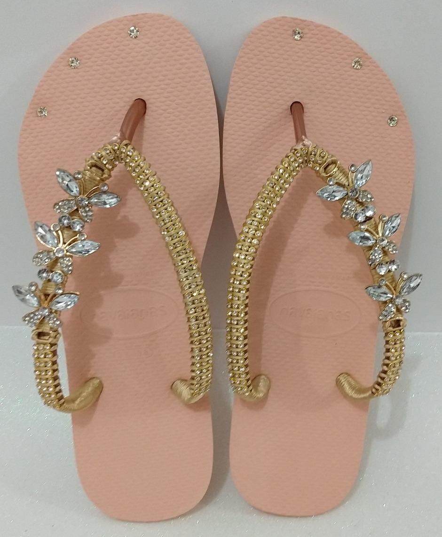 08a0cc98e6 sandália chinelo havaianas decoradas customizada feminina. Carregando zoom.