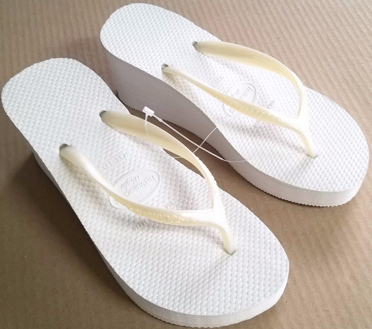 46d556952a843b sandalia chinelo havaianas high fashion branca salto 6 cm. Carregando zoom.