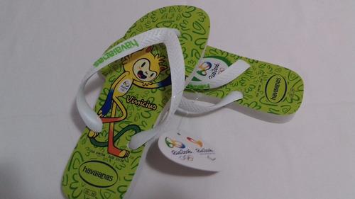 sandalia chinelo havaianas mascote vinicius olimpíadas rio
