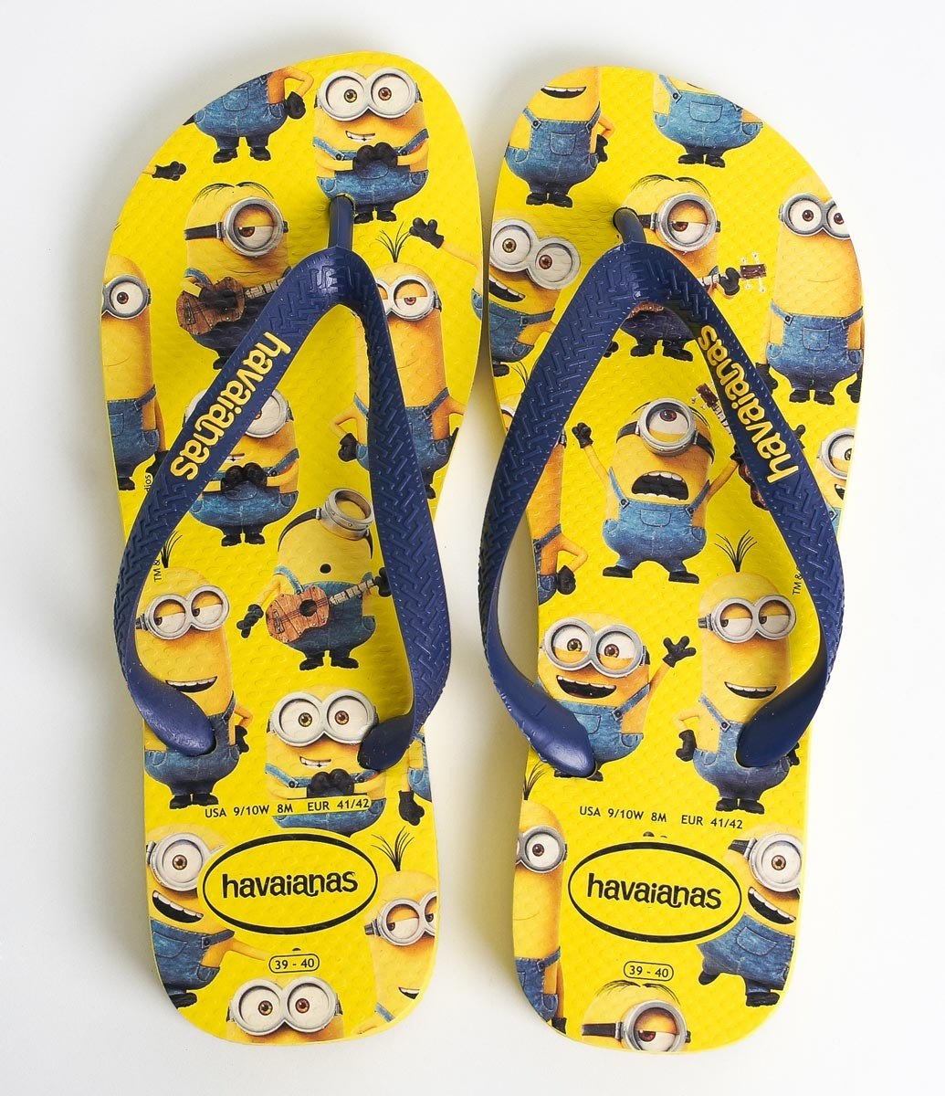 85816097f sandália chinelo havaianas minions amarela tamanho 41 / 42. Carregando zoom.