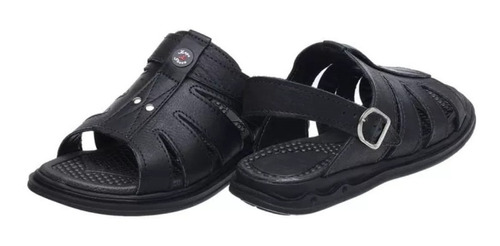 sandália chinelo masculina couro anti-stress ortopédica