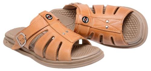 sandália chinelo masculino couro legítimo conforto
