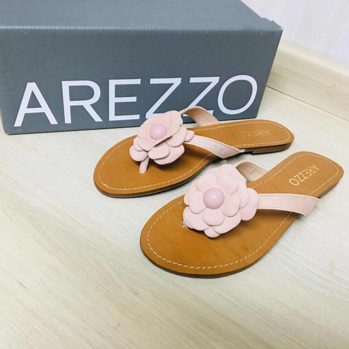 99225446f sandália chinelo rasteira arezzo nobuck flor sugar pink novo. Carregando  zoom.