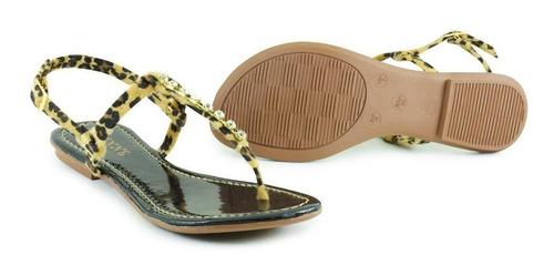 sandália chinelo rasteira feminina tira strass kit 06 pares