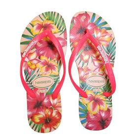 b7fcdb80a Legitima Havaiana Sandalias Estampa Hibisco - Calçados, Roupas e ...