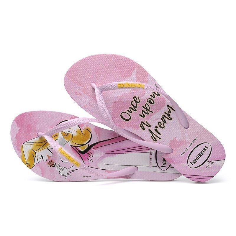 7e497bf19 sandalia chinelo slim princesas 4135045 -havaianas - rosa qu. Carregando  zoom.