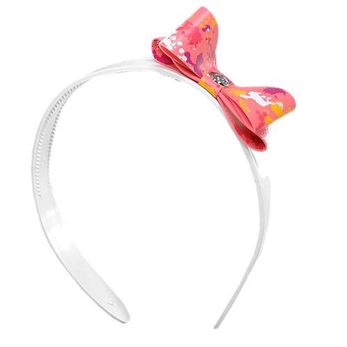 sandália chiquititas branca/rosa com tiara grendene 21192