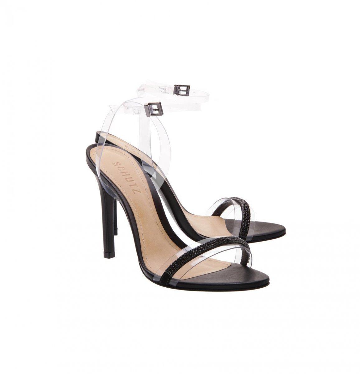ca8bbf1e2 Sandália Classic Vinil Black Schutz - R$ 390,00 em Mercado Livre