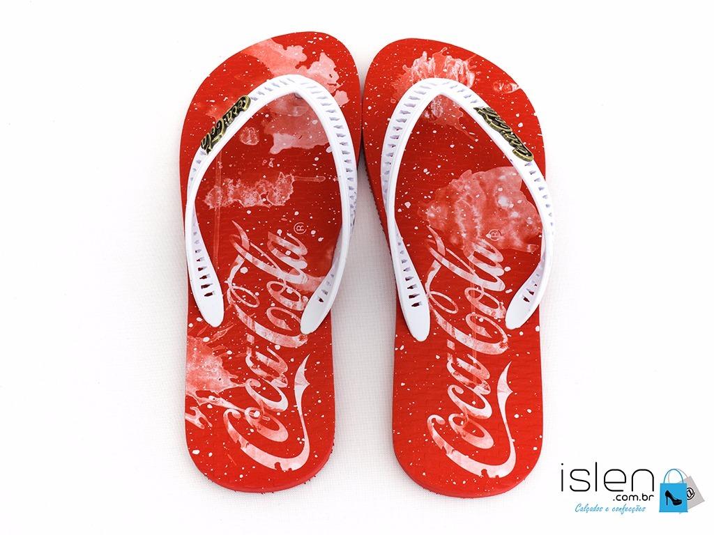 ad482c832 sandalia coca cola masculino original (promoção). Carregando zoom.