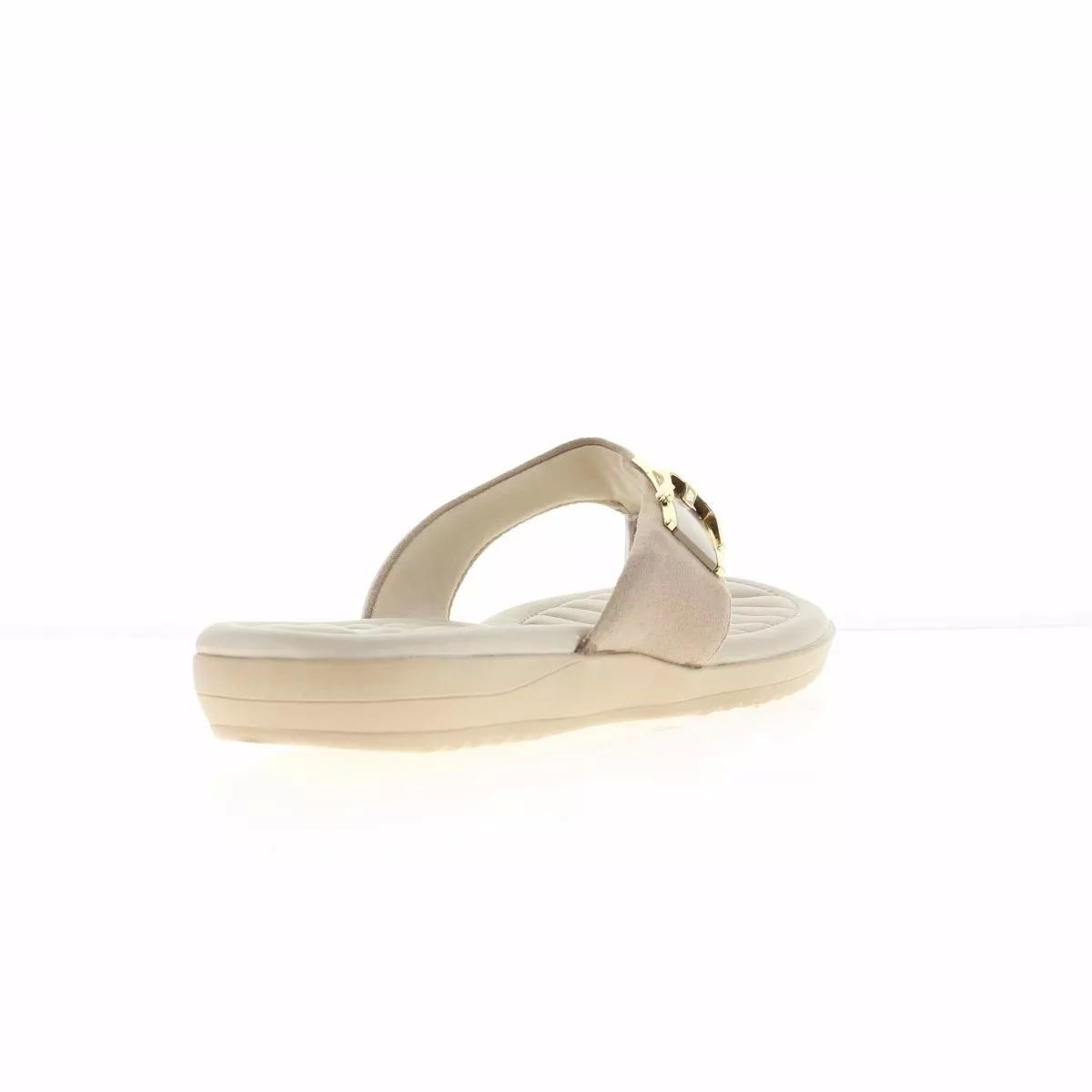 49df827e8 sandália rasteira comfortflex com fivela feminina - nude. Carregando zoom...  sandália comfortflex com. Carregando zoom.
