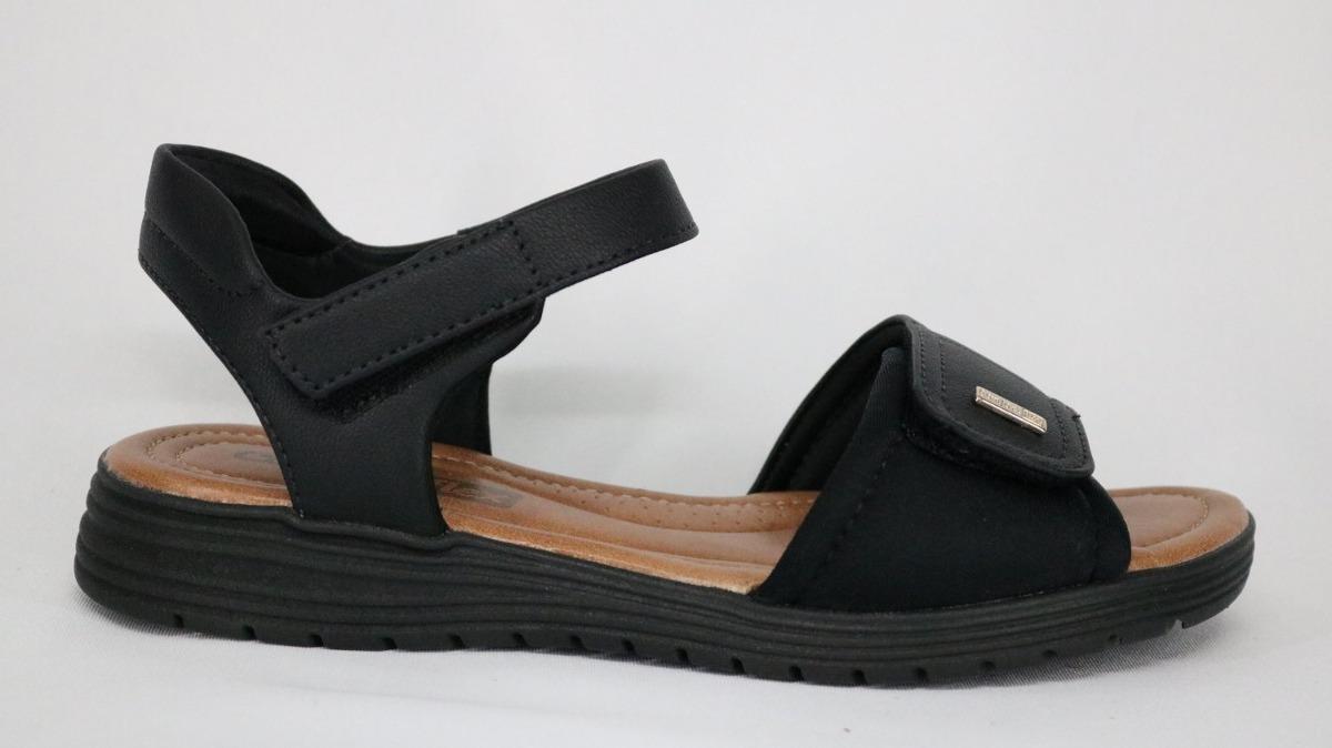 622dfcb767 sandália comfortflex velcro preta - 34 - preto. Carregando zoom.