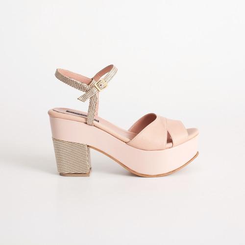 sandalia con plataforma. art milos 3090 rosa . otro calzado