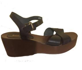 35 Plataforma Con Mujer Sandalia Pollini Zapato Talla nNm0w8
