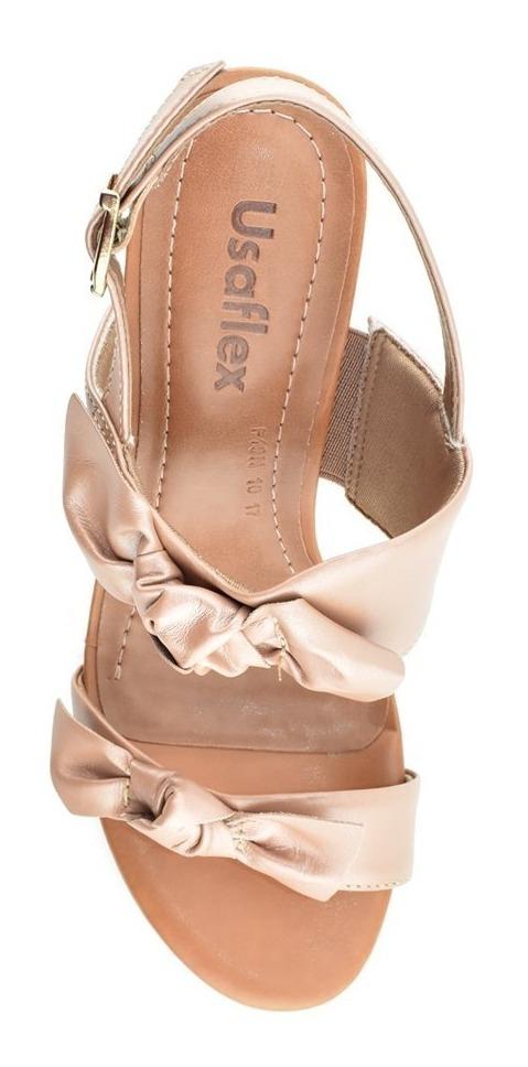 65456381e sandália confortável salto alto usaflex y6010 cirandinha. Carregando zoom.
