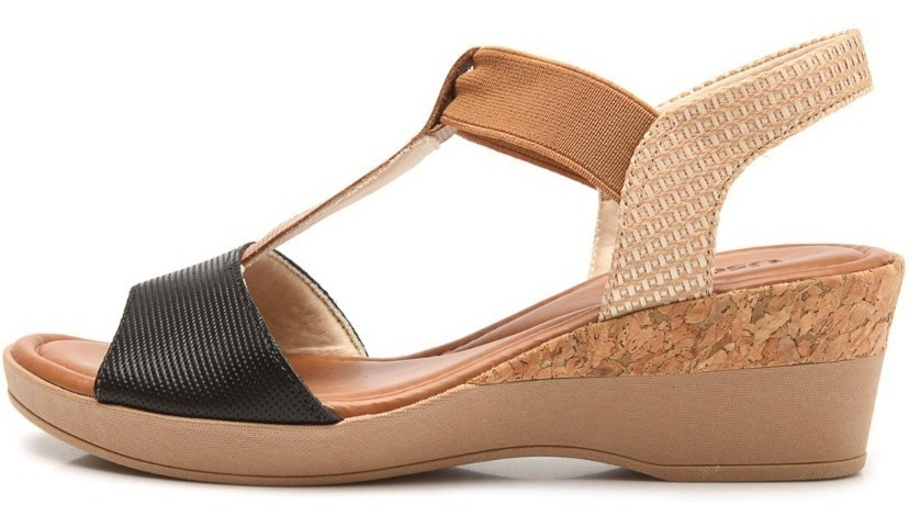 0618a8d62 sandália conforto couro usaflex anabela caramelo aa2103. Carregando zoom.