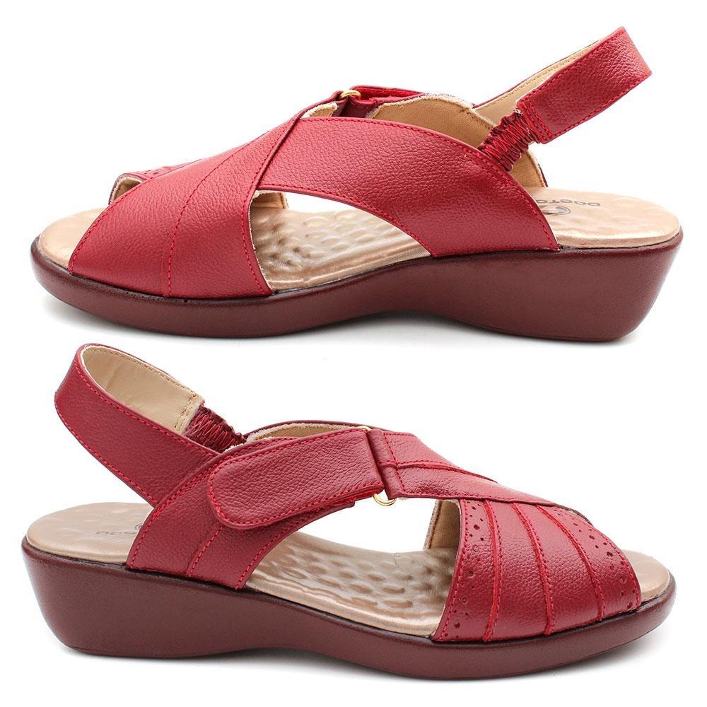 ecd15e705 sandália conforto feminino couro esporão doctor pé vermelho. Carregando zoom .