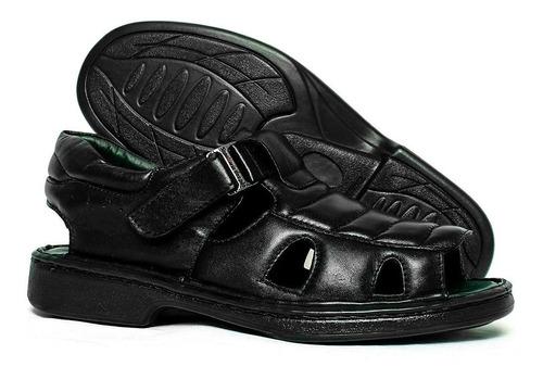 sandália conforto masculina promoção 100% em couro galway 3000