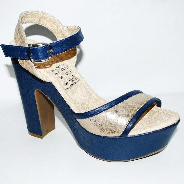 d0fe73fa1dd Sandalia Correa Plataforma color Azul Dorado-4 -   75.000 en Mercado ...