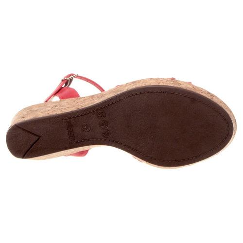 sandália cortiça strass salto anabela com apliques gig.loja