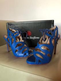 3be7c46fd Sandalia Carmen Steffens - Sandálias para Feminino Azul no Mercado ...