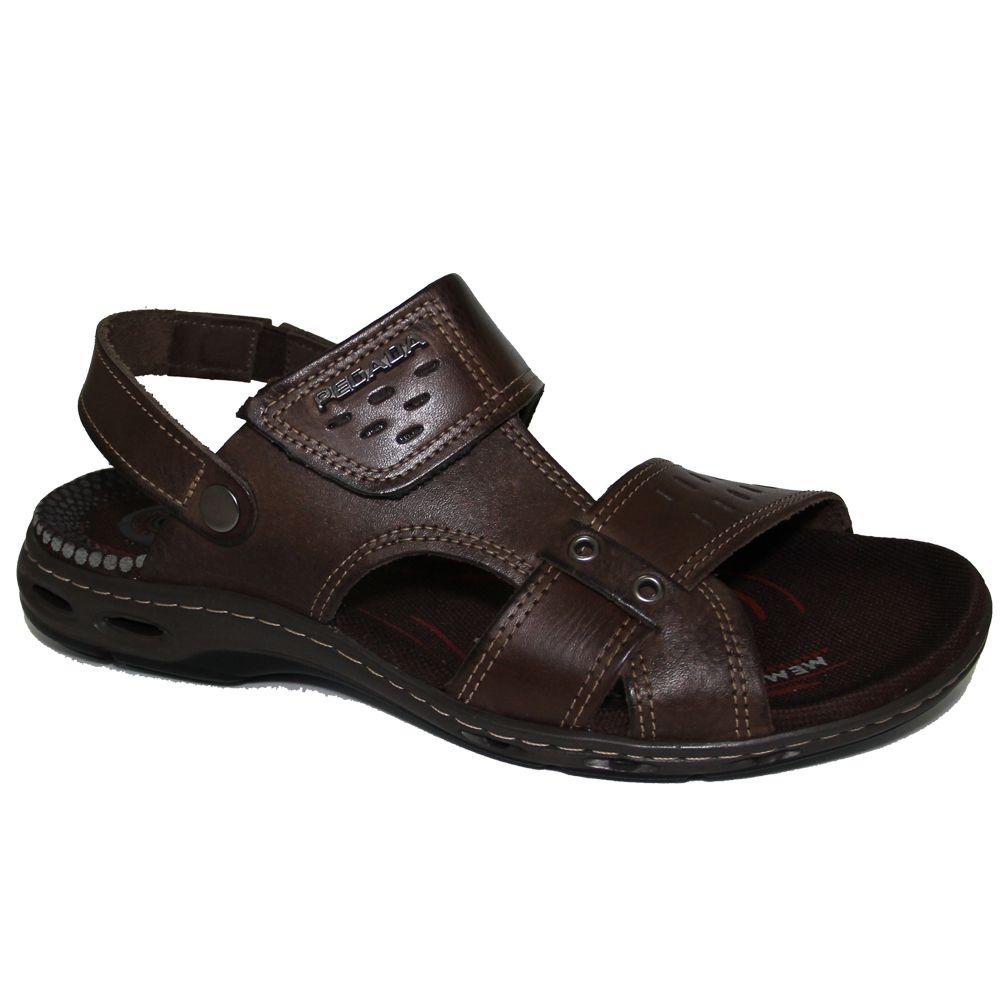 16b8b08343 sandália couro pegada 30653-03 masculino - anilina cravo. Carregando zoom.