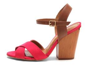78484d5f52 Sapato Feminino Caramelo Salto Quadrado Santa Lolla - Sapatos no ...
